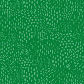 Kelly + Grass Green Scandi Texture Fat Eighth // Bright + Playful Color with Geometric Floral and Botanical Motifs // Quilting Collection // Small Scale // ZirkusDesign