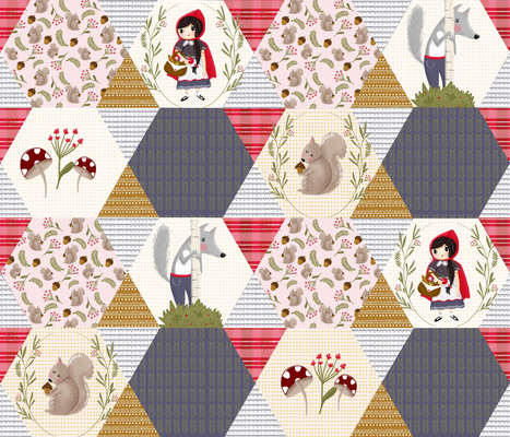 Little red Cheater Quilt
