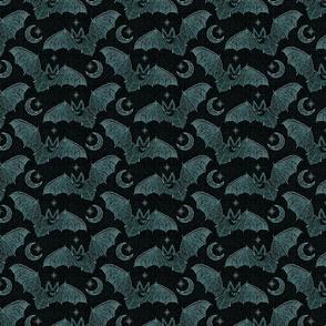Bat Stitch Crazy - Blue, Smaller Scale