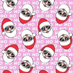 Santa Claus w/ sunnies - HO HO HO pink toss - Christmas C19BS