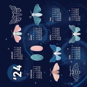 German 2022 Calendar, Monday / Silk Moth Galaxy