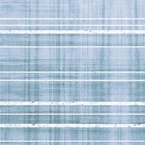 Ocean Plaid watercolor light blue white