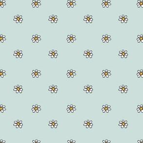 1237 piglet neutrals daisies on mint