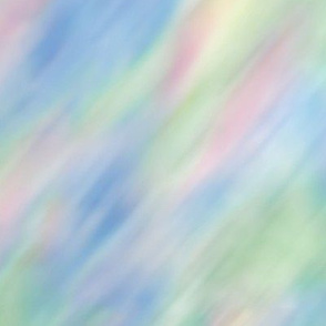 Pink Blue Green Blurred Bottom Left to Top Watercolor