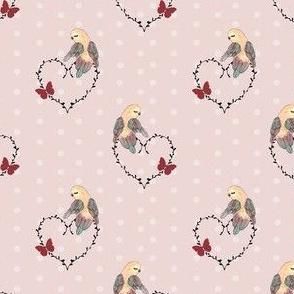 1262 Reindeer Rascals - Mrs Pretty floral - neutrals 2 - dusty pink