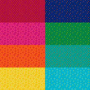 Scandi Swiss Cross (+) Fat Eighth // Bright + Playful Color with Geometric Hand Drawn Motifs in Tints and Shades // Modern Quilting Collection // Small Scale // ZirkusDesign