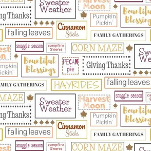 Fall Typography | Thanksgiving | Renee Davis
