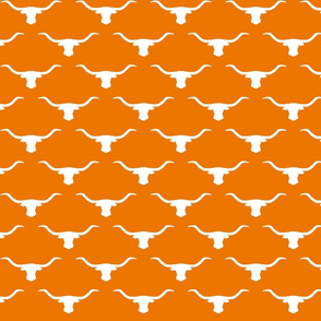 longhorn silhouette white on orange