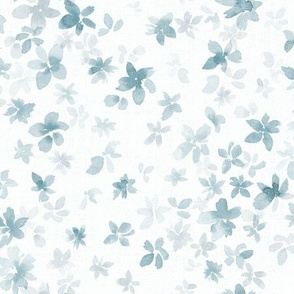 Into the blue - SMALL - Light gray blue watercolor floral