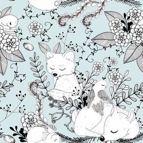 1297 Woodland Friends Ink - Fawnie Fox and Friends sky