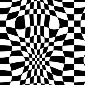 Distorted Black and White Checkered