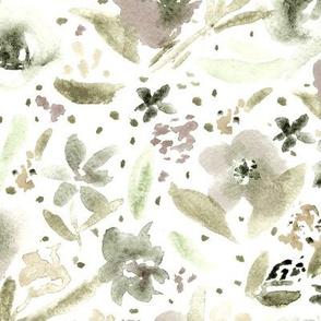 Bloom in Paris • boho watercolor flowers
