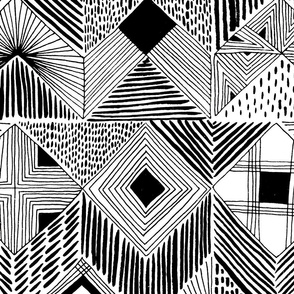 neutral retreat - black + white