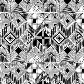 neutral retreat - black + white - small