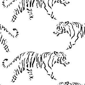 Minimalist White Tiger