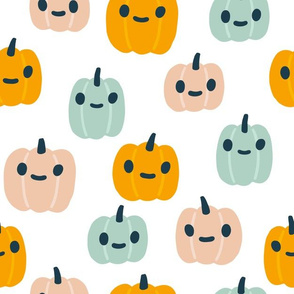 Colorful Halloween pumpkins