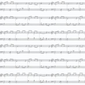 Sheet Music Gray and White
