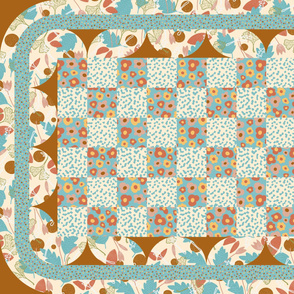1 Yard Baby Quilt Teal