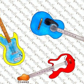 Watercolor Guitars