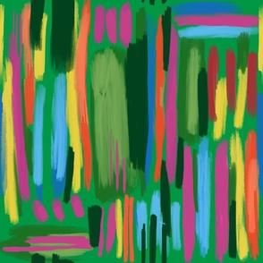 green painted rainbow