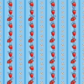 Strawberry Stripes, Matching Blue