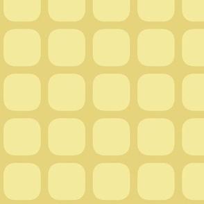 simple squares atomic! coordinate yellow cream inverse