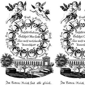 skulls bones cherubs angels graveyards crosses  Mausoleum tombstones black white monochrome death eerie macabre spooky bizarre morbid Gothic graves