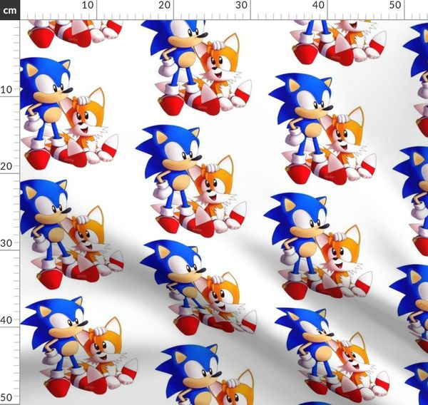 Sonic And Tails Spoonflower