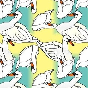 Baby Swan  Boys & Girls Babies Fabric #2