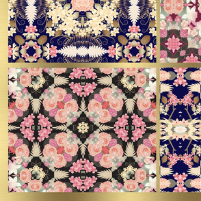 Japanese floral boho patchwork