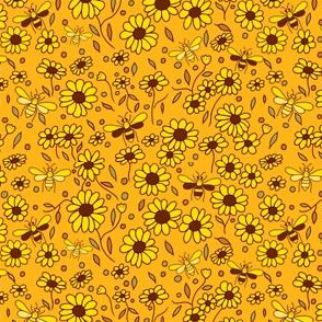 Floral Nature Autumn Gold Chocolate Daisies