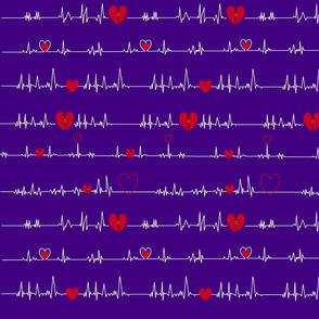 purple zipper open heart