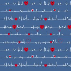 grey blue zipper open heart