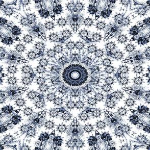 English Blue Chintz Floral