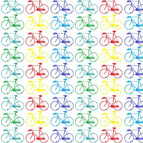 bicycles on white
