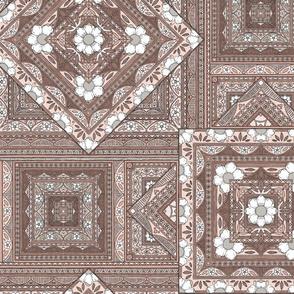 Vintage Squares - beige/blush
