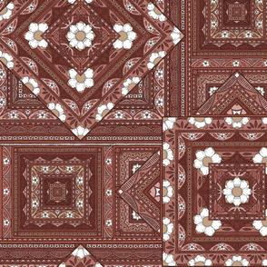 Vintage Squares - rose/rust