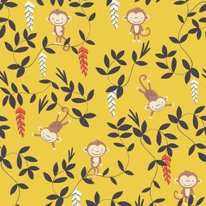 Monkey jungle yellow