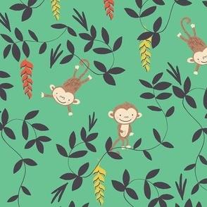 Monkey jungle green