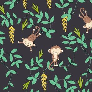 Monkey jungle black