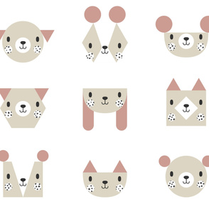 Geometric Animals Cheater Quilt