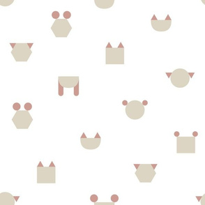 Geometric Animal Shapes Medium