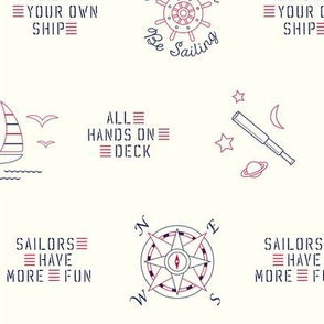 Sailing, sailing...