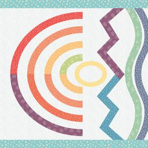 Mountain rainbow quilt