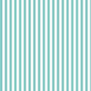 Ticking Stripe in Aqua