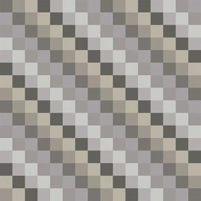 Tan Gray Cream Squares