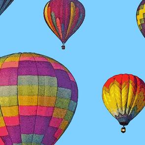 Hot Air Balloon Cheater Quilt Backing