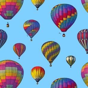 Hot Air Balloon Cheater Quilt Backing (Medium Scale)