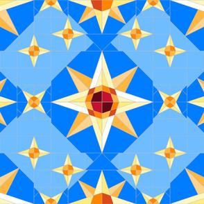 compass stars quilt 3j