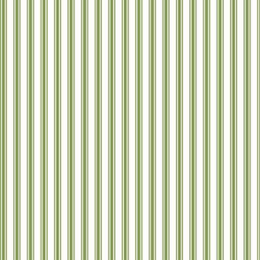 Ticking Stripe in Fern